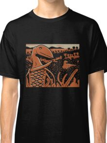 Dimorphodon and Scelidosaurus - Tan and Orange Classic T-Shirt