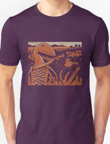 Dimorphodon and Scelidosaurus - Tan and Orange T-Shirt