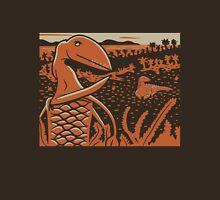 Dimorphodon and Scelidosaurus - Tan and Orange Unisex T-Shirt