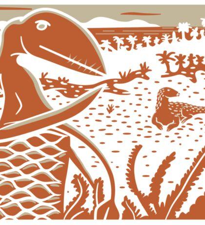 Dimorphodon and Scelidosaurus - Tan and Orange Sticker