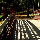 Shadows on a Wooden Bridge by Matt Ravick