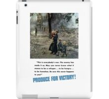 Produce For Victory! WW2 iPad Case/Skin