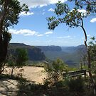 Govett's Leap Lookout, Blackheath, in the Blue Mountains of NSW by Catherine Davis
