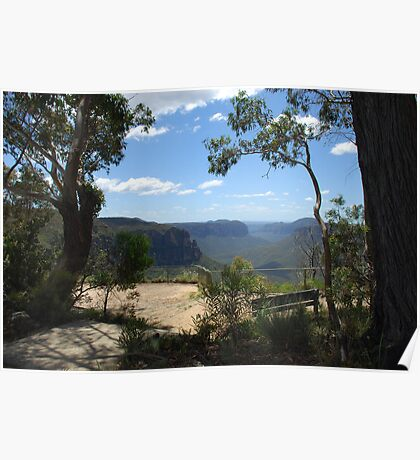 Govett's Leap Lookout, Blackheath, in the Blue Mountains of NSW Poster
