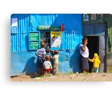 Street SHOP in Nairobi, KENYA Canvas Print