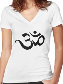 Ohm Women's Fitted V-Neck T-Shirt
