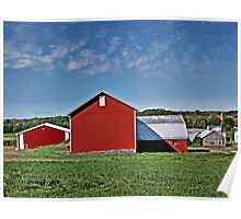 Red Country Barn, Manipulated Poster
