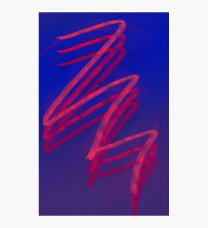 Red Scribble Design Photographic Print