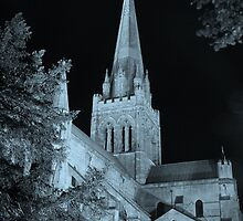 Chichester Cathedral in Teal by piccolo8va