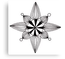 simple star black and white Canvas Print