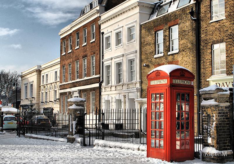 Greenwich High Road Telephone Box by Karen Martin