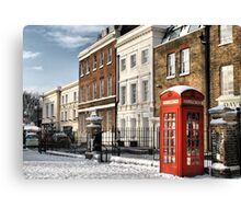 Greenwich High Road Telephone Box Canvas Print