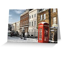 Greenwich High Road Telephone Box Greeting Card