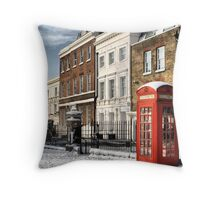 Greenwich High Road Telephone Box Throw Pillow