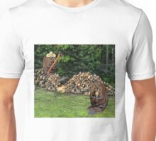 BUSY BEAVERS CHOPPING WOOD-PICTURE-TEE SHIRT-PILLOW-TOTE BAG-JOURNAL ECT... Unisex T-Shirt