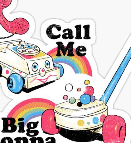 Call Me Big Poppa Sticker