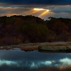 Sunset - Outback Waterhole Kalannie by Peter Evans