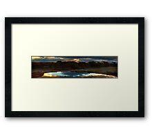 Sunset - Outback Waterhole Kalannie Framed Print