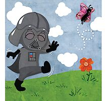 Star Wars baby - inspired by Darth Vader Photographic Print