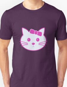 Cartoon Anime Cat Face Unisex T-Shirt