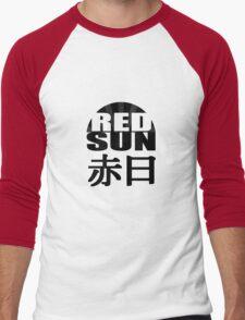Red Sun (black) Men's Baseball ¾ T-Shirt