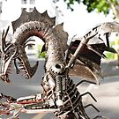 Alien Dragon Predator on the city streets by yurix