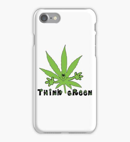 Think Green Marijuana iPhone Case/Skin