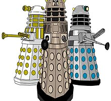 Evolution Of The Daleks by Scatmanjon