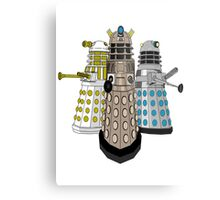 Evolution Of The Daleks Metal Print