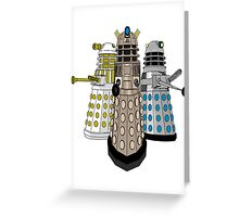 Evolution Of The Daleks Greeting Card