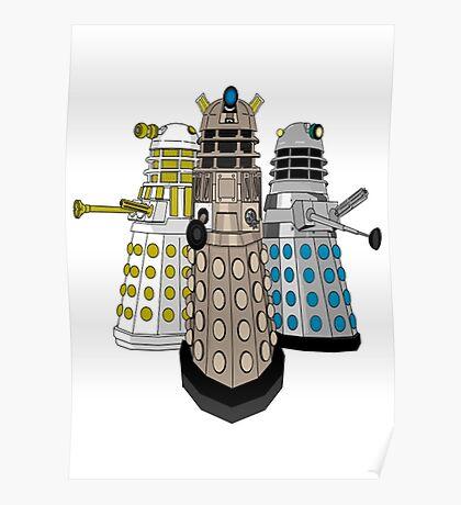 Evolution Of The Daleks Poster