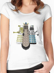 Evolution Of The Daleks Women's Fitted Scoop T-Shirt