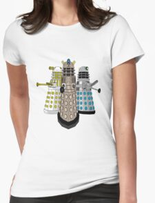 Evolution Of The Daleks Womens Fitted T-Shirt