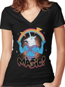 Magic! Women's Fitted V-Neck T-Shirt