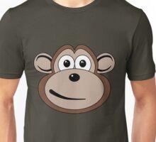 Cartoon Monkey Face Unisex T-Shirt