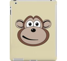 Cartoon Monkey Face iPad Case/Skin