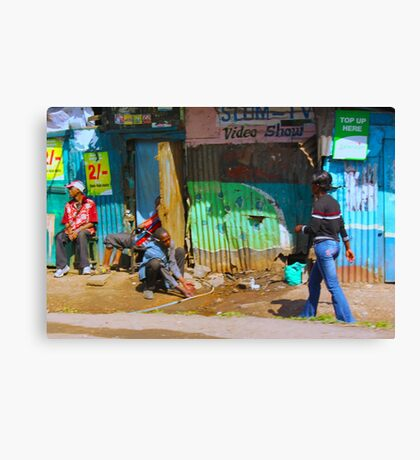 SLUM TV - Video Show, Nairobi - KENYA Canvas Print