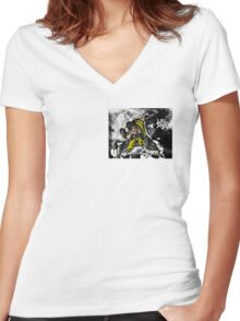 Scorpion from Mortal Kombat Women's Fitted V-Neck T-Shirt
