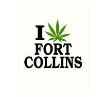 I Love Marijuana Fort Collins Colorado Art Print