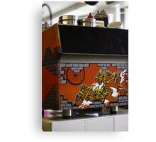 Cafe graffiti - Cafe Racer, Melbourne Canvas Print