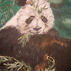 Panda Eating Bamboo by Jennifer Ingram