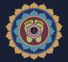 Om Vishnupad Mandala by shantitees