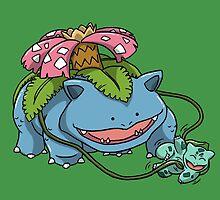 Tickle-Me Bulbasaur by aryu
