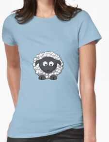 Cartoon Sheep Womens Fitted T-Shirt