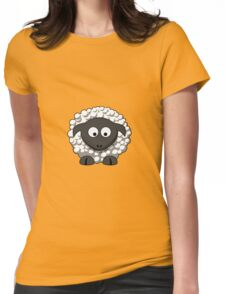 Cartoon Sheep Womens Fitted T-Shirt