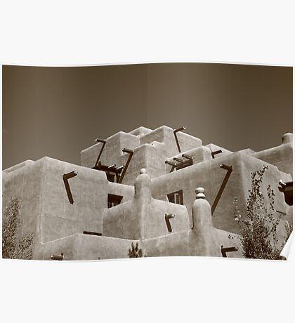 Santa Fe - Adobe Building Poster