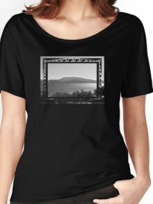 b & w figurative sea and mountain Women's Relaxed Fit T-Shirt