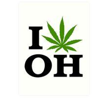 I Love Ohio Marijuana Cannabis Weed  Art Print