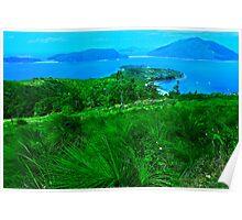 Blue & Green Islands - Great Barrier Reef Australia Poster