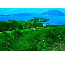 Blue & Green Islands - Great Barrier Reef Australia Photographic Print